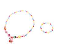 Little Rabbit Multicolor Braccialetti e collane in acrilico Vintage Jewelry Sets