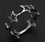 Fashion Hollow Stars Women's Silver Alloy Statement Rings(1 Pc)