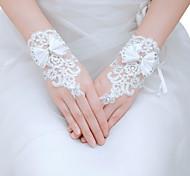 Wrist Length Fingerless Glove - Tulle Bridal Gloves/Party/ Evening Gloves