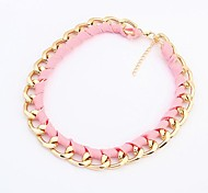 Women's Europe Fashion Fluorescence Short Necklace