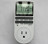 """TS-839 US 3-pin Plug 15A 1800W Digital 2.3"""" LCD Programmable Switch Timer - White (120V)"""