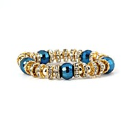 Crystal Ball Pattern Metallic And Diamond Flexible Bracelet(1pc)
