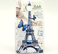 Butterfly Eiffel Tower Pattern Hard Case for Nokia X