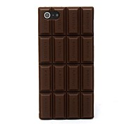 Chocolat de silicone de couverture de caisse de peau compatible avec l'iPhone 5/5S