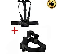 Eelastic Chest Strap and Head Strap for GOPRO-Black