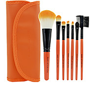 Make-up For You 7Pcs Artificial Fibre Orange Eyeshadow Makeup Brush Set