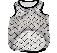 Lovely Paillette Decorated Lattice Pattern Vest for Pets Dogs (Assorted Colors, Sizes)