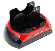 "CP-876U3-J All-in-1-2.5 ""3.5"" IDE / SATA / eSATA HDD Docking mit Kartenleser (Red & Black)"