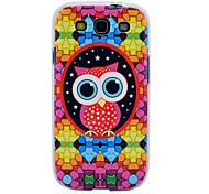 Cartoon Owl Pattern Soft TPU Imd Case for Samsung Galaxy S3 I9300