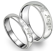 Fashion Jewelry Titanium White Guardian Clovers Steel Couples Ring Promis rings for couples