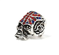 Vintage The Union Jack Skull Metallic Ring 1pc