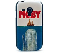 Moby Eat Ship Pattern Hard Case for Samsung Galaxy S3 Mini I8190