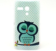 Beautiful Sleeping Owl Pattern Plastic Hard Case for Motorala Moto G