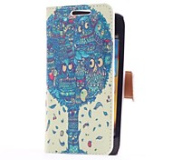 Dragon Tree Style Leather Case with Card Slot and Stand for Samsung Galaxy S Advance i9070