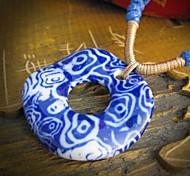 Moda Restauração Colar Cerâmica Antiga maneiras Handmade