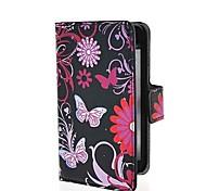 Funda de cuero púrpura de las mariposas Patrón PU con cierre magnético y la ranura para tarjeta para LG Optimus L7 P715 II Dual