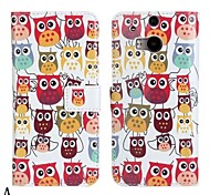 PU Leather Owl Pattern Pattern Case for HTC M8
