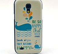 Happy Swimming Dolphin Pattern Hard Back Cover Case for Samsung Galaxy S4 Mini I9190