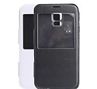 Caisse de batterie 3500mAh 5V alimentation externe Retour pour Samsung Galaxy S5 PU Couverture
