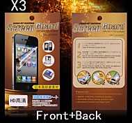 Protective HD Front + Back Screen Protector for Sony L36H (3PCS)