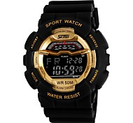 Unisex Fashion Sport Style Multi-Function LCD Digital Rubber Band Wrist Watch (Assorted Colors)