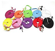 Cavo USB 2m Noodle Micro per cellulari Samsung e porta Supportato Phones Micro USB (colori assortiti)