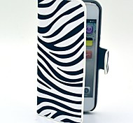 Fashion Zebra Pattern Hard Case with Card Slot and Matte PC Back Cover for iPhone 5/5S