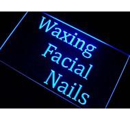 Waxing Facial Nails Beauty Salon Neon Light Sign