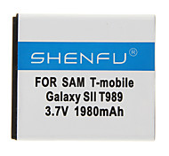 SHENFU 1980mAh Cellphone Battery for Samsung T-mobile Galaxy SII T98
