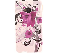 Ink Flower Design TPU Soft Case for HTC ONE M7
