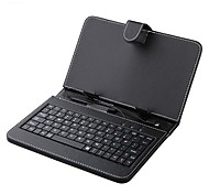 7 Inch Leather Case with Keyboard Stylus and Micro USB for Tablet PC