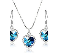 Crystal Heart - Heart of Ocean Set