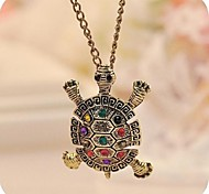 Little Turtle Sweater Chain Pendant Necklace