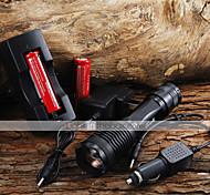 Torce LED / Torce LED 5 Modo 2000 Lumens Messa a fuoco regolabile Cree XM-L T6 18650 / AAACampeggio/Escursionismo/Speleologia / Uso