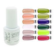 yemannvyou®sequins uv Farb GelNagellack no.85-96 (5 ml, farblich sortiert)