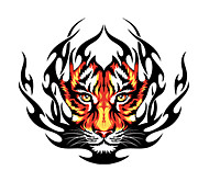 Fire Tiger Pattern Decorative Car Sticker