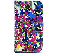 Multicolor Geometry Pattern Hard Case with Magnetic Snap and Card Slot for Motorola MOTO X