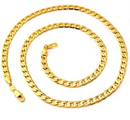 U7® 18K Chunky Gold Filled Necklaces Yellow Gold Plated Figaro Chains Quality Jewelry For Men 5MM 55CM