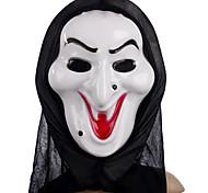 Máscara Feiticeira Branca com Cabeça Capa Brincadeiras assustador Gadgets Cosplay para festa a fantasia de Halloween