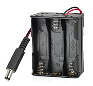 K1209006  6 x AA Batteries Holder Case with Power Plug for (For Arduino)