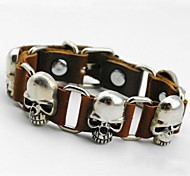 Personality Skull Leather Bracelet