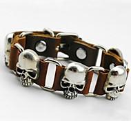 Persönlichkeit Schädel-Leder-Armband