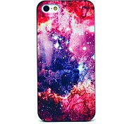 Flower and Growing Star Pattern Hard Case for iPhone 5/5S