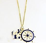 Navy Moda Colar Âncora Alloy