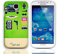 007 Kit Design Hard Case with 3-Pack Screen Protectors for Samsung Galaxy S4 mini I9190