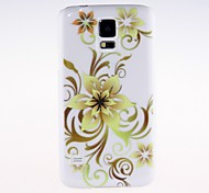 Kinston  Hollow Out Flower Tendril Pattern Plastic Hard Case for Samsung S5 I9600