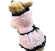 Cat / Dog Coat White / Pink Dog Clothes Winter Classic