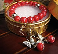 Fashion Ceramic Jewelry Set (Including Bracelet, Earring)