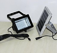 32-LED White Weatherproof Solar Powered LED Flood Light - Motion Detection