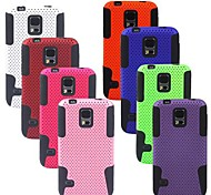 Angibabe 2 in 1 Rugged Rubber Matte Hard Silicone Case Cover for Samsung Galaxy S5 G900/ I9600